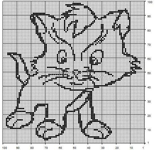 114Схемы картин для филейного вязания крючком схемы