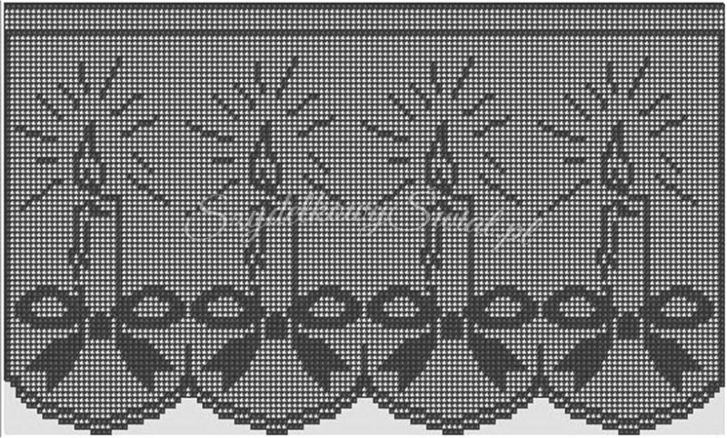 Филейное вязание пасха 8